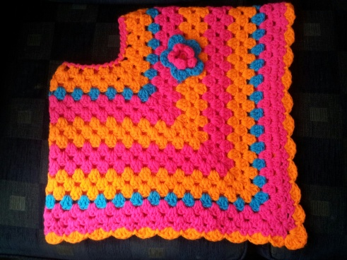 colourful poncho